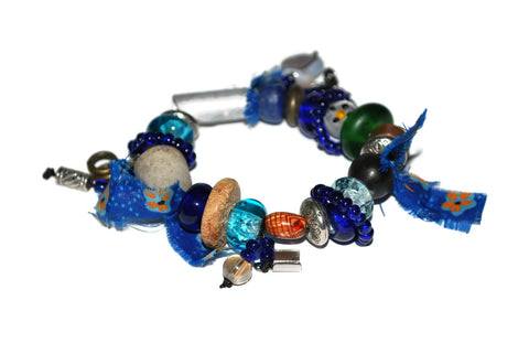 Crazy Bracelets Blue, White, Brown, Green