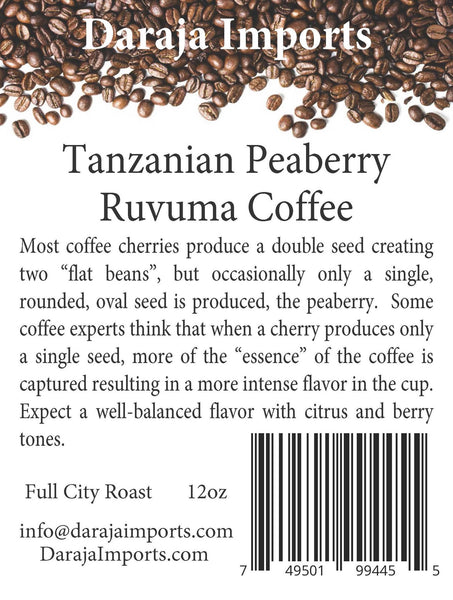Tanzanian Peaberry Coffee - East African Coffee