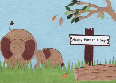 Handmade Greeting Cards - Like Father Like Son or Daughter
