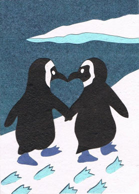 Handmade Greeting Cards - Penguin Love