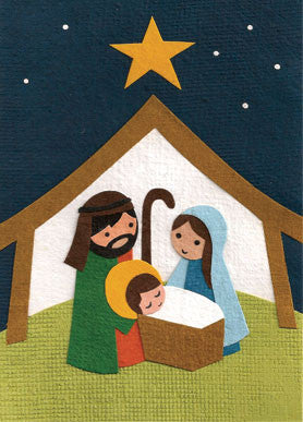 Handmade Greeting Cards - Away in a Manger