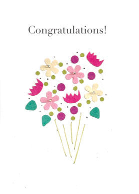 Handmade Greeting Cards - Celebration Bouquet