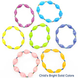 Handcrafted Paper Bead Child's Bracelet - Bright Solid Colors