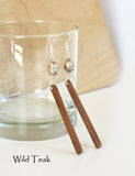 Handcrafted Trina Driftwood Earrings - Wild Teak
