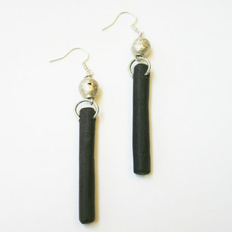 Handcrafted Trina Driftwood Earrings - African Blackwood