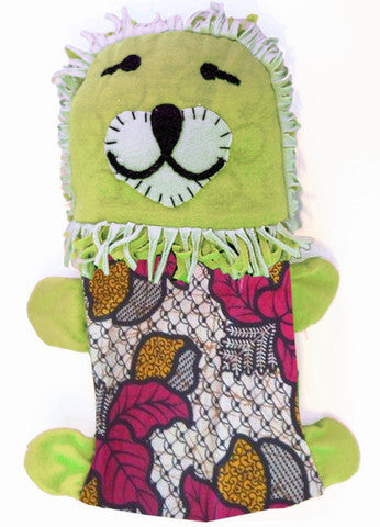 Handcrafted Little Friends Plush Animals - Green Lion