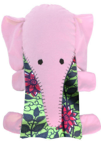 Handcrafted Little Friends Plush Animals - Pink Elephant