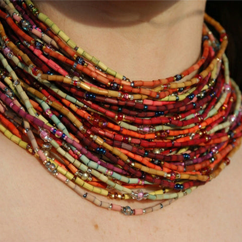 Zulugrass Single Strand Necklaces - Autumn Collection