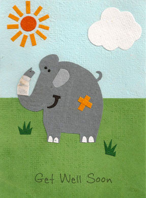 Handmade Greeting Cards - Get Well Elephant