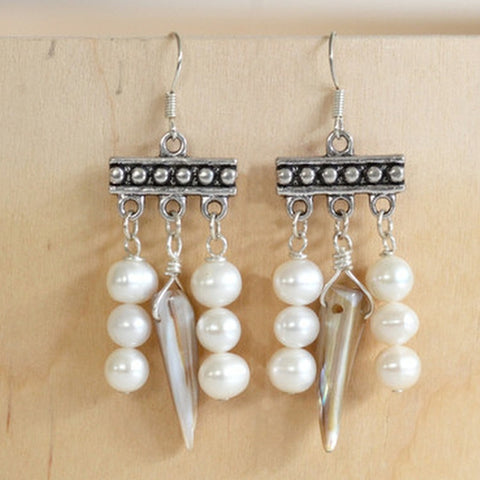 freshwater pearls white earrings