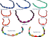 Handcrafted Paper Bead Necklace - Regular - Navy Blue