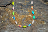 Handcrafted Paper Bead Necklace - Multi Color