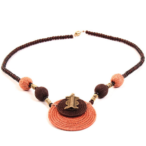 Handcrafted Swazi Sisal Tribal Necklace