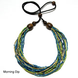 morning dip natural dyed zulugrass necklace