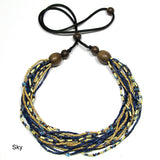 ecofriendly necklace sky zulugrass