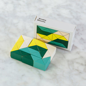 Areaware Snake Blocks Yellow/Green
