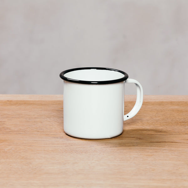 Crow Canyon Mug 12 Oz White With Black Rim