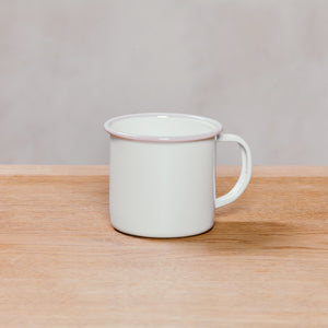 Crow Canyon Mug 12 Oz White With Pink Rim