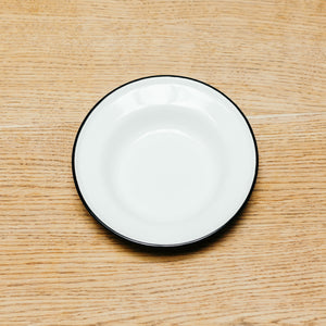 Crow Canyon Raised Salad Plate White With Black Rim