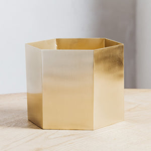 Ferm Living Hexagon Pot Extra Large Brass