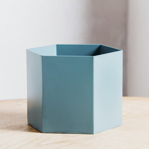 Ferm Living Hexagon Pot Extra Large Dusty Green