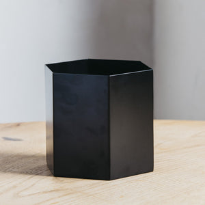 Ferm Living Hexagon Pot Large Black