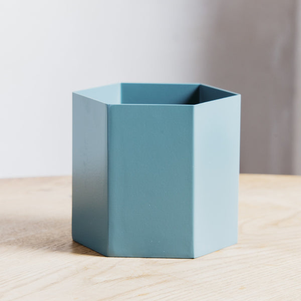 Ferm Living Hexagon Pot Large Dusty Green