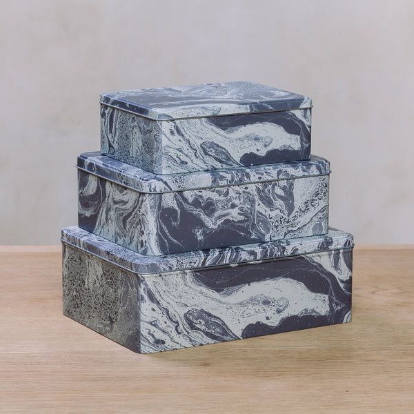 Ferm Living Marble Tin Box Set