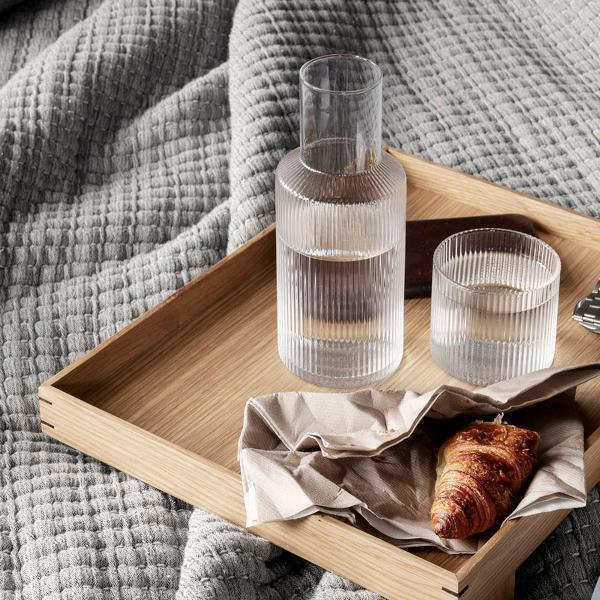 Ferm Living Ripple carafe set small Smoked Grey