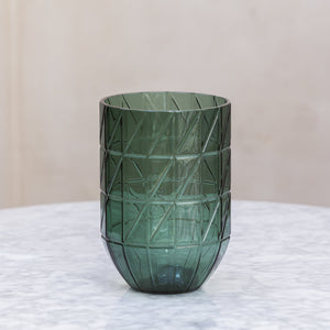 HAY Colour Vase Green Glass / Large