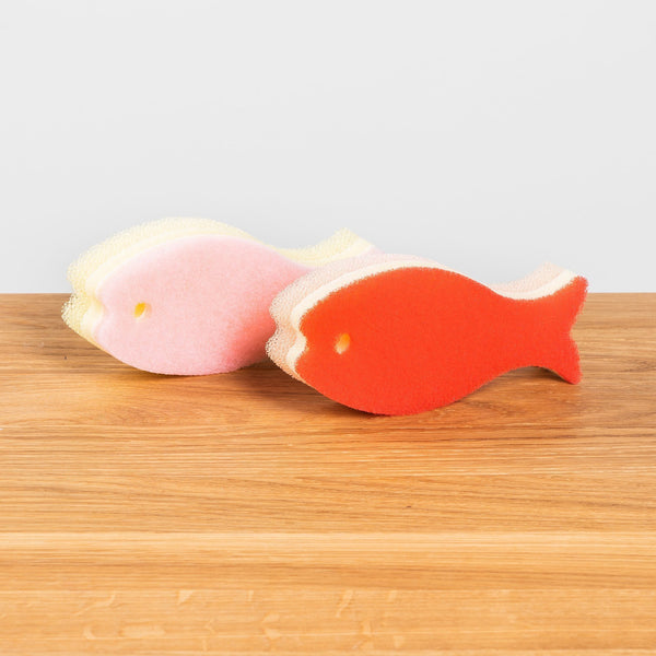 HAY Fish Sponge Set of 2 Rose