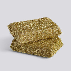 HAY Lurex Sponge Set of 2 Lurex Gold