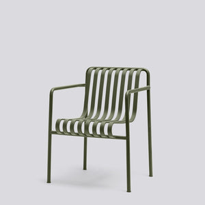 HAY Palissade Dining Arm Chair Olive