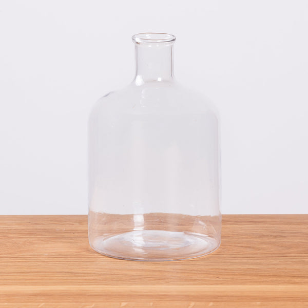 HAY Turkish Cylinder Glass Bottle Clear