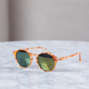 Izipizi Sun #D Sunglasses Tortoise Yellow Mirror