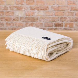 Klippan Gotland Woven Throw Natural White