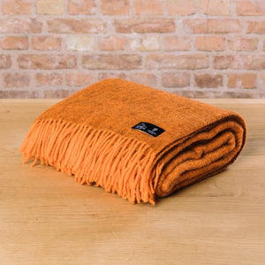 Klippan Gotland Woven Throw Orange