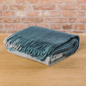 Klippan Inez Woven Wool Throw Grey