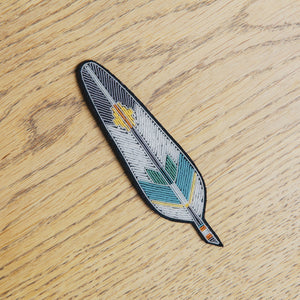 Macon & Lesquoy Feather Brooch