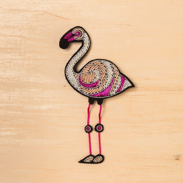 Macon & Lesquoy Flamingo Brooch