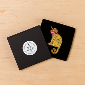 Macon & Lesquoy Gold Monkey Brooch