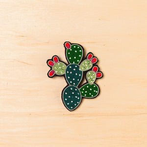 Macon & Lesquoy Prickly Pear Cactus Brooch