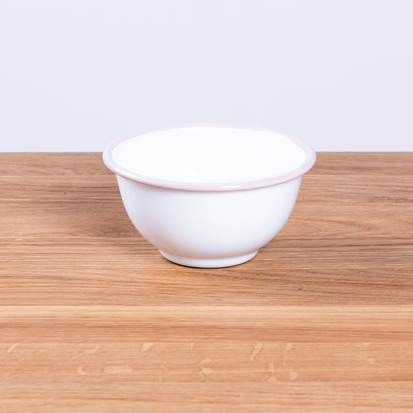 Not specified Small Enamel Bowl with Pink Rim