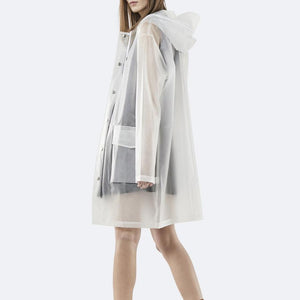Rains Hooded Coat Foggy Dusty Mint / XXS/XS
