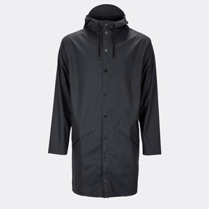 Rains Long Jacket Black / XSS/XS