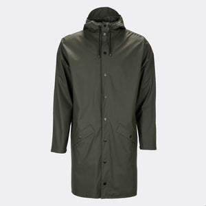Rains Long Jacket Green / XSS/XS
