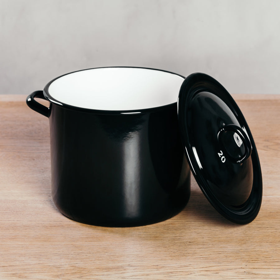 Riess Enamel Stock Pot with Lid
