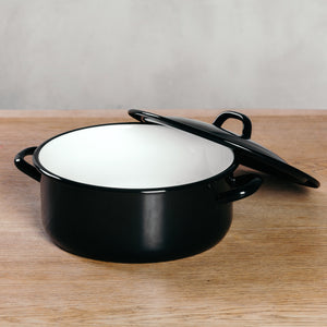 Riess Large Enamel Stew Pot with Lid