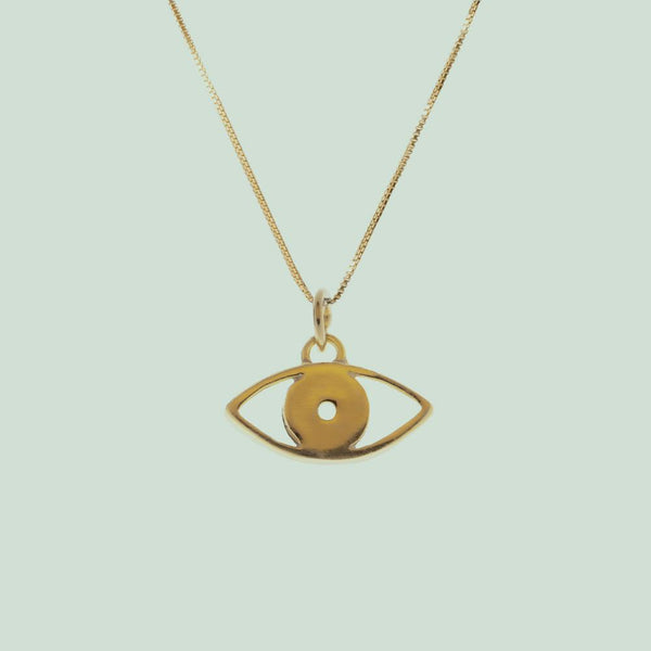 Sister Evil Eye Gold Pendant No Chain