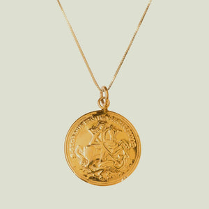 Sister St George and the Dragon Gold Pendant